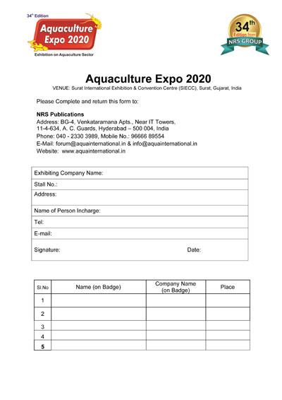 Aquaculture Expo | Aqua International